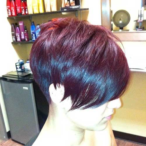 Cute Short Purple Pixie Cuts