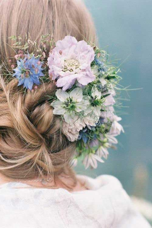 Best Cutest Wedding Flower Hair