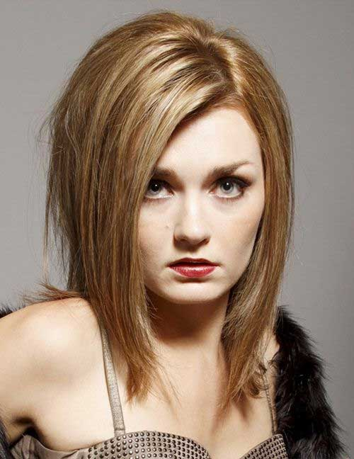 Dark Blonde Medium Hairstyles