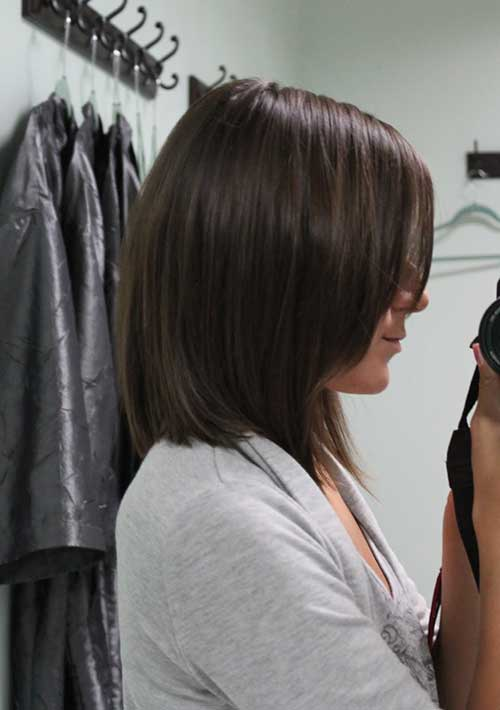 Dark Medium Bob Haircuts