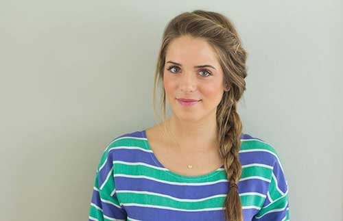 Easy Side Fishtail Cute Hairstyles for Long Hair