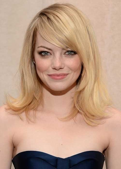 Emma Stone Side Apart Hairstyles