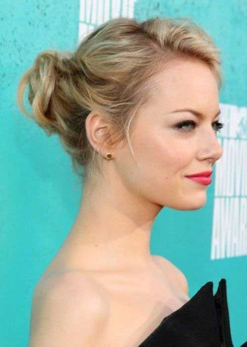 Emma Stone New Cute Updo Hairstyles