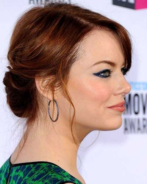Emma Stone Updo Hairstyles Medium Lenght