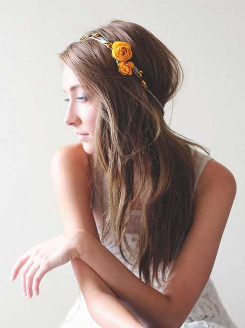 Cute Fall Flower Crown for Wedding