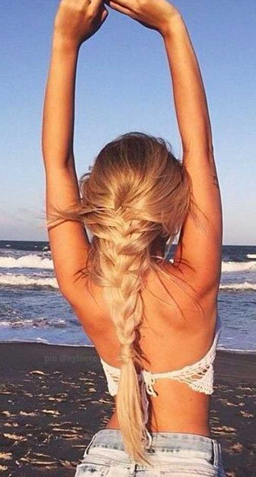 Fishtail Braid Lower Down Hairstyles