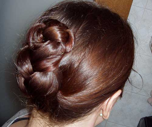 Folded Hair Updos for Medium Hair