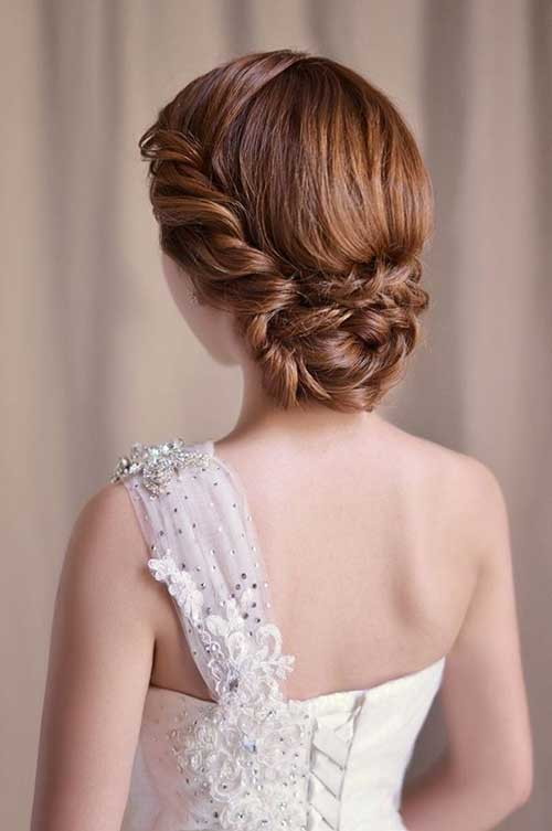 Nice Ginger Braided Updo Wedding