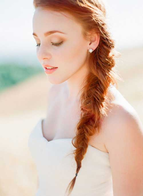 Ginger Long Hair with Braid for Summer