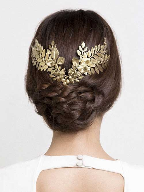 Beautiful Gold Accessories Wedding Hair Inspiration