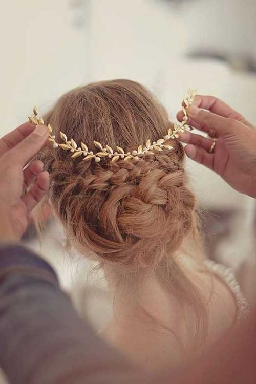 Gold Hair Accessories for Wedding Images