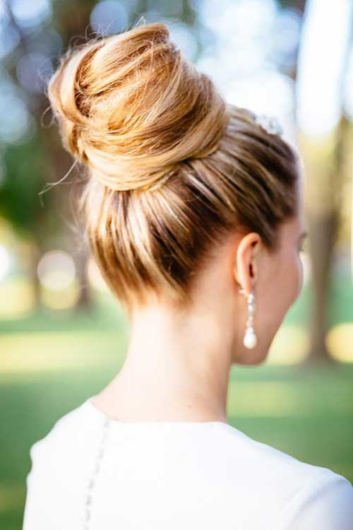 Good High Bun Bridal Hairdo