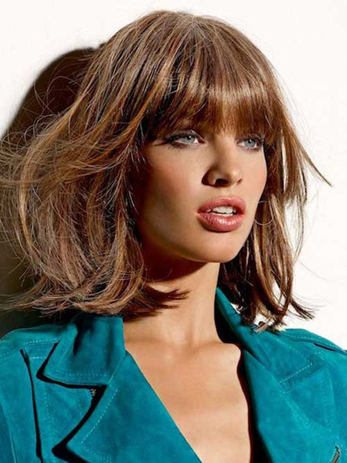Hairstyles for Medium Bob Hair with Bangs