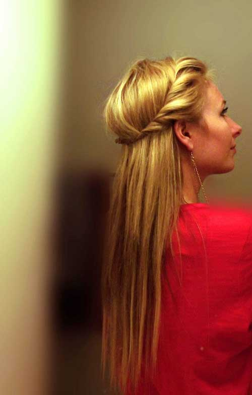 Headband Hair Half Down Twist