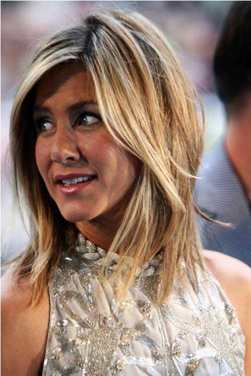 Jennifer Aniston Layered Medium Hairstyles