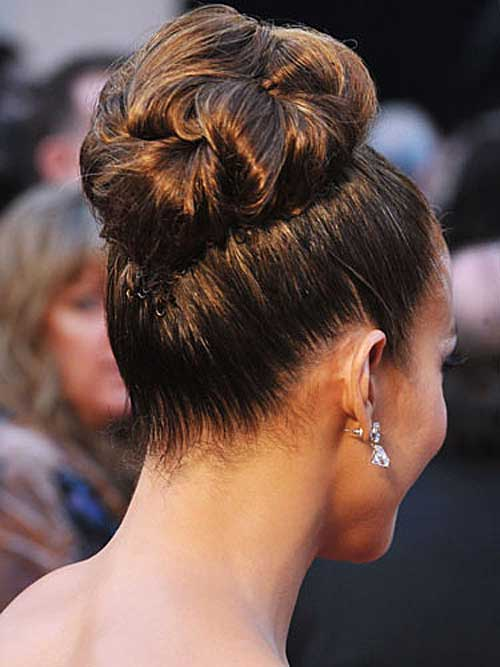 Jennifer Lopez's High Bun Wedding Idea