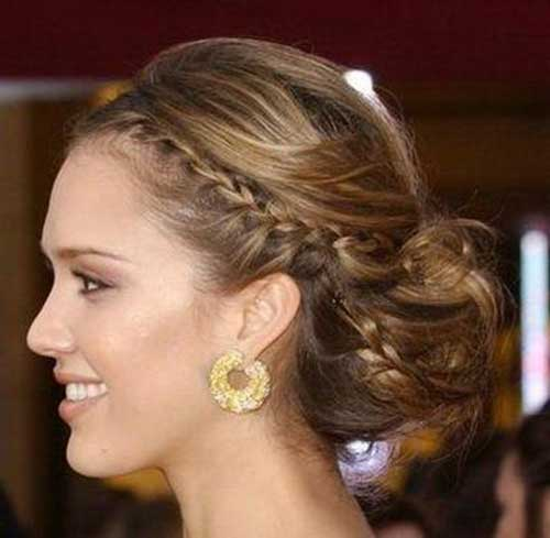 Jessica Alba Braided Updo Wedding Idea