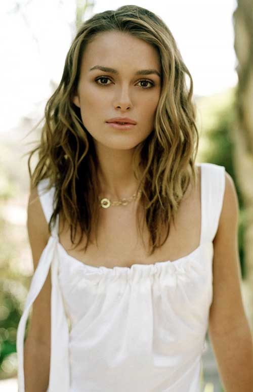 Keira Knightley Layered Hairstyles