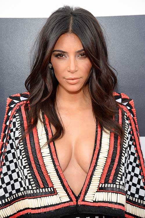 Kim Kardashian Dark Hairstyles