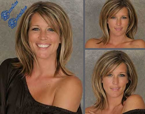 Laura Wright Medium Hair Cuts with Bangs
