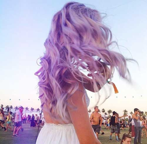 Lavender Hairstyles for Summer 2015