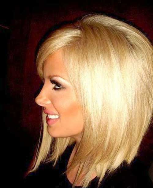 Light Blonde Hair for Mid Lenght Haircuts