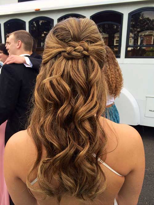 Best Light Brown Half Up Hair with Braid