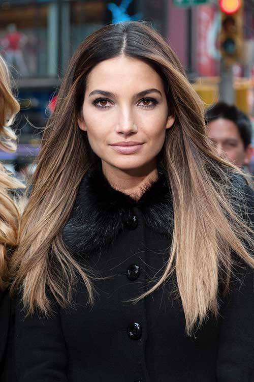 Lily Aldridge's Ombre Hair Color Ideas