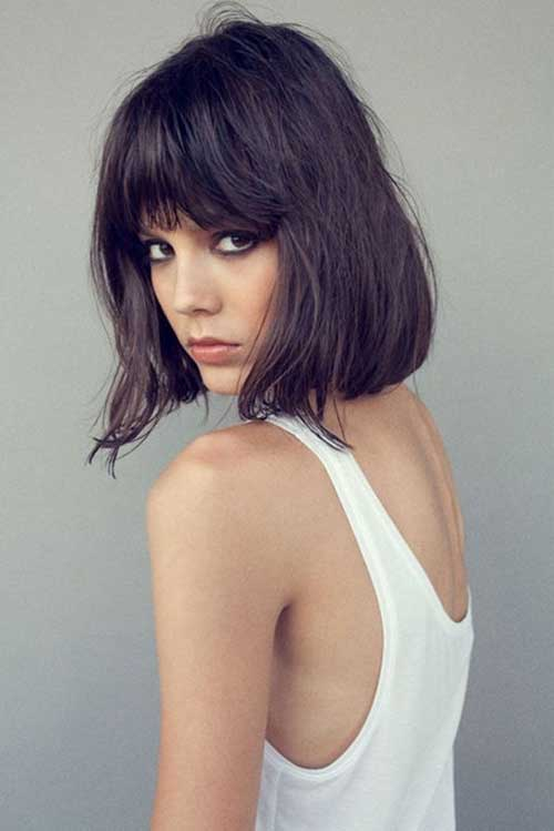 Long Bob Bangs Cuts