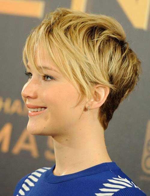 Jennifer Lawrence Long Pixie Hair