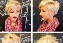 Long Blonde Pixie Hairstyles