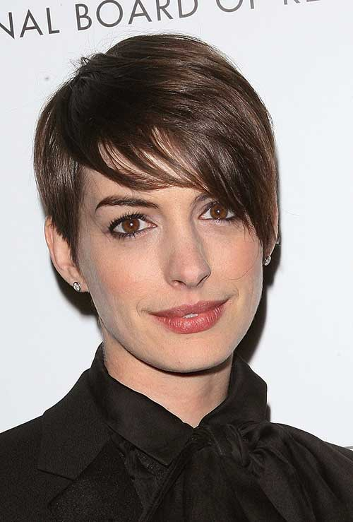 Anne Hathaway Longer Pixie Style Haircuts