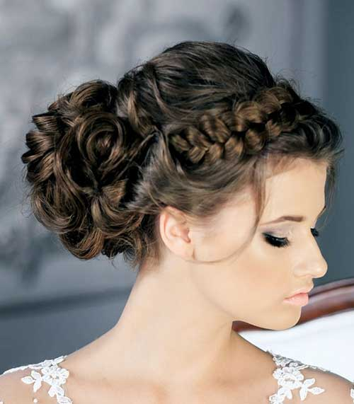 Lovely Bun with Braids on Top Hairstyles