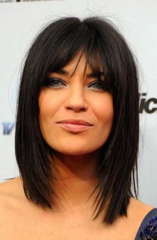 medium haircuts for thick hair with bangs hairstyles for medium thick black hair hair 5135