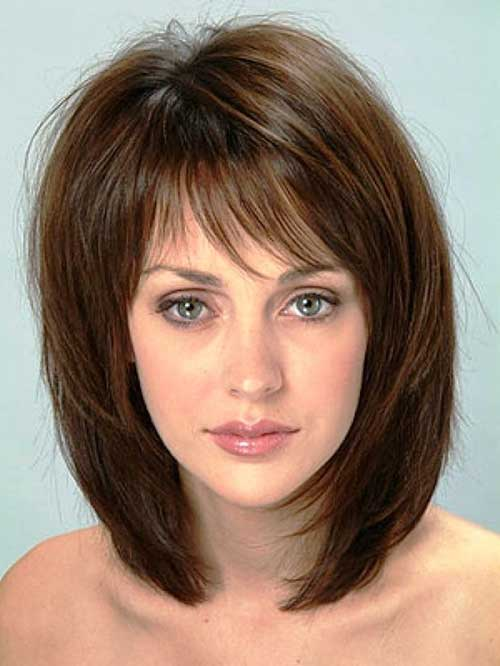 Medium Haircuts for Messy Hair with Bangs