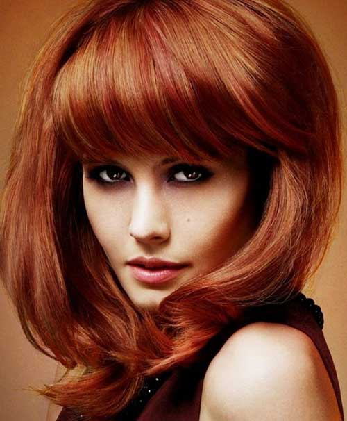 Medium Hairstyles Thick Copper Hair