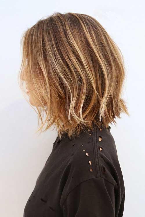 Balayage Color Medium Layered Haircut
