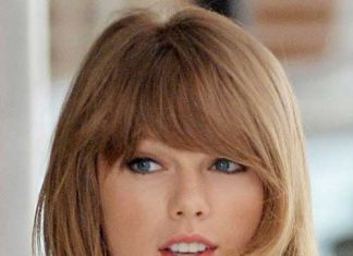 Taylor Swift Medium Length Hair with Bangs