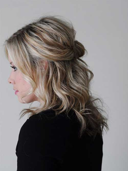 Natural Blonde Highlights Medium Length Hair