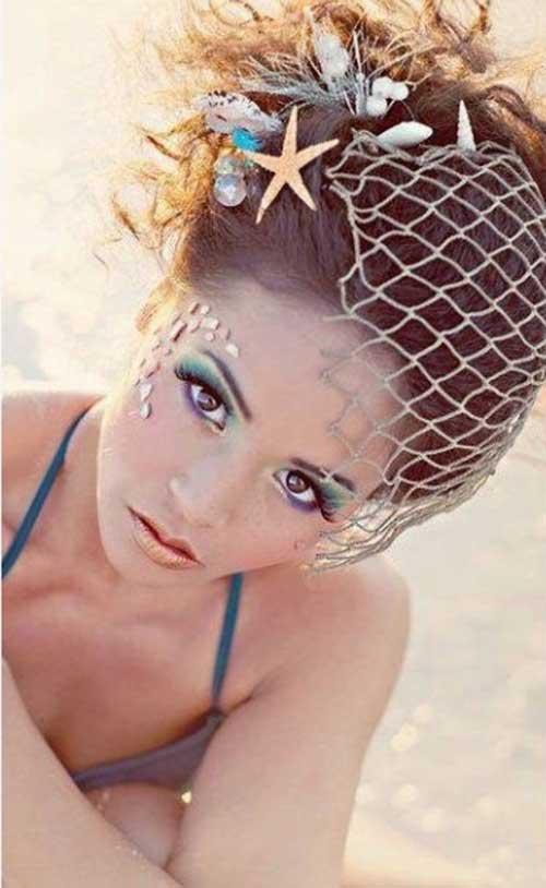 Beach Wedding Mermaid Look Hairstyle Idea for Long Hair