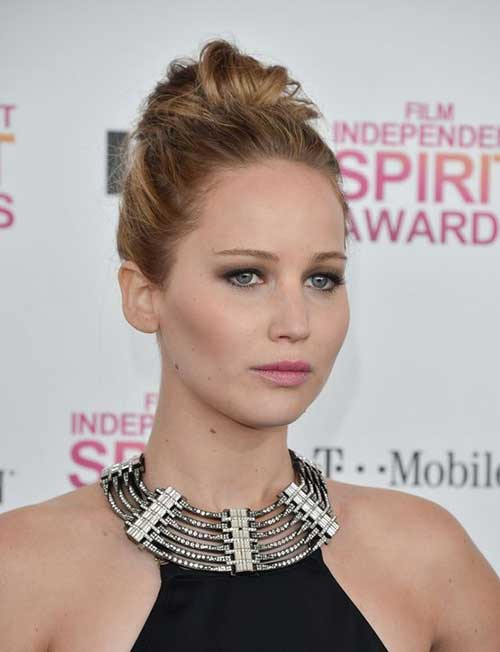 Jennifer Lawrence Messy Buns for Medium Hair
