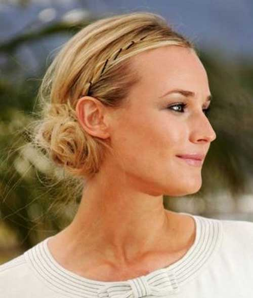 Messy Updo with Small Headband Hairstyles