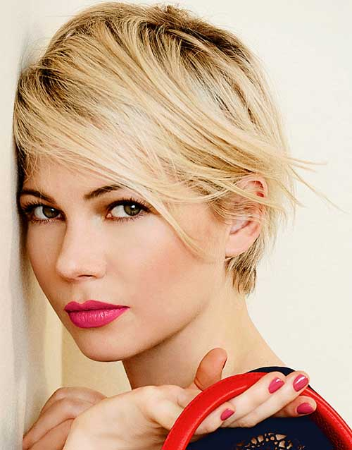 Michelle Williams Pixie Haircuts 2014-2015