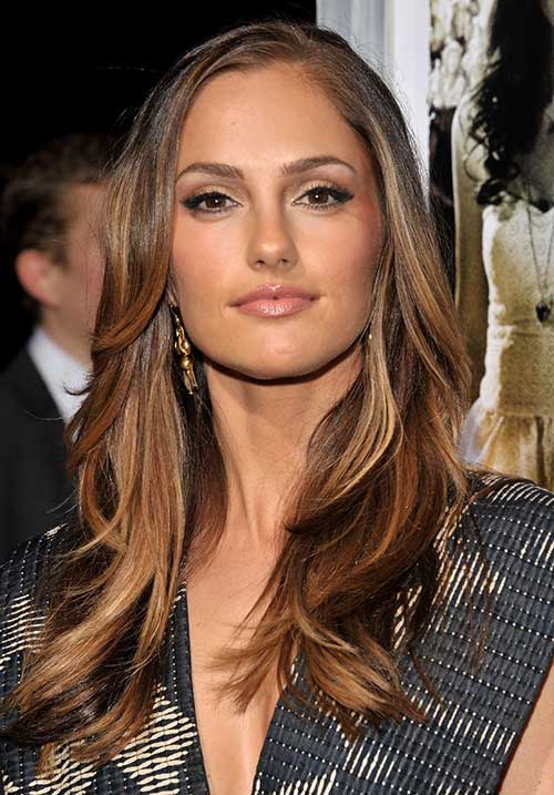 Minka Kelly Long Layered Hairstyle