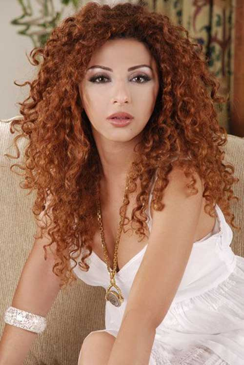 Myriam Fares Long Layered Curly Hair