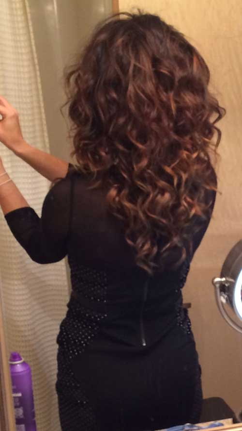 Long Curly Layered Cut Hair