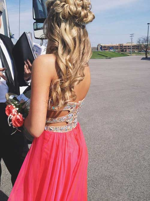 Best Half Up Prom Style Hair for Blondes