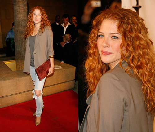Rachelle LeFevre Curly Red Hair