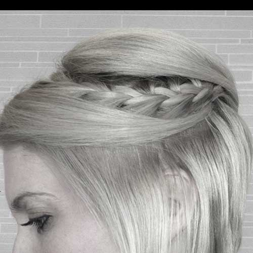 Simple Romantic Braid for Short Hair