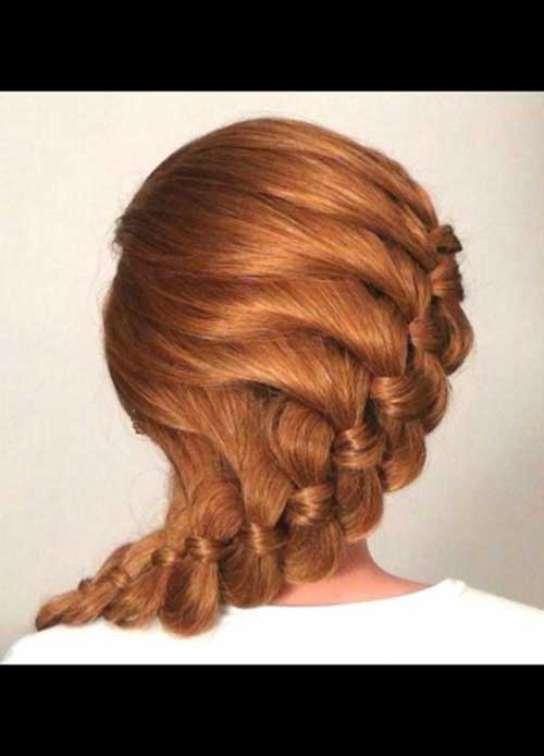 Best Romantic Prom Hairstyle for Long Hair Idea